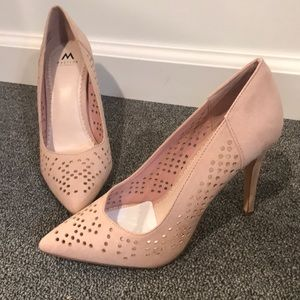 Blush Laser Cut Pumps